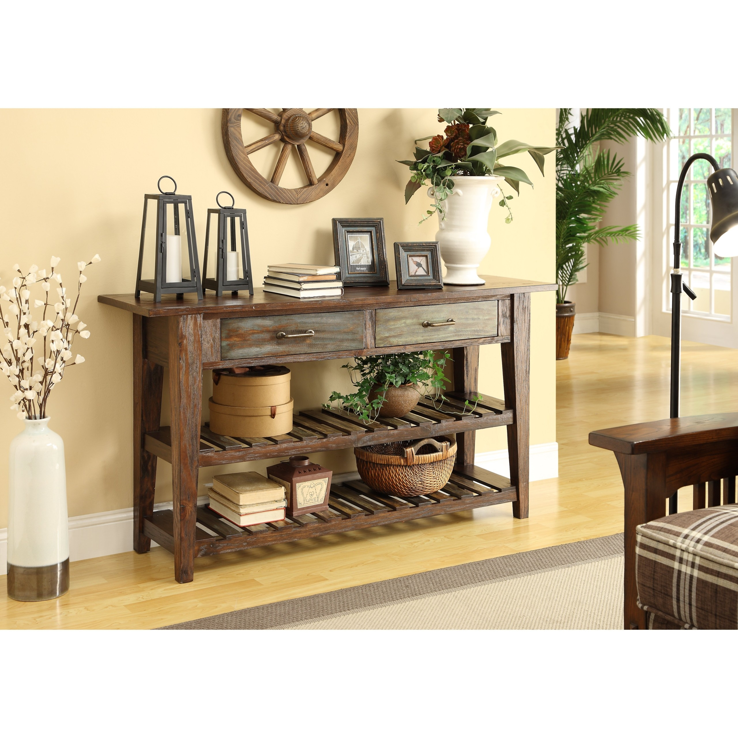 Courtland Console Table in Brown