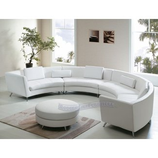 Incredible Curved Leather Sectional Sofa Ideas On Foter Gmtry Best Dining Table And Chair Ideas Images Gmtryco