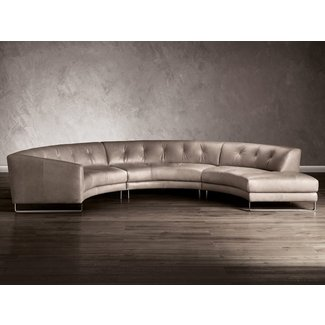 Curved Leather Sectional Sofa Ideas