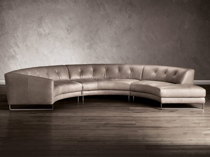 Charmant Curved Leather Sofa