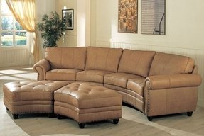 Curved sectional sofa 15