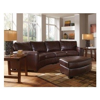 Sectional With Round Ottoman