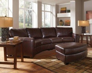 Curved Leather Sectional Sofa   Ideas On Foter