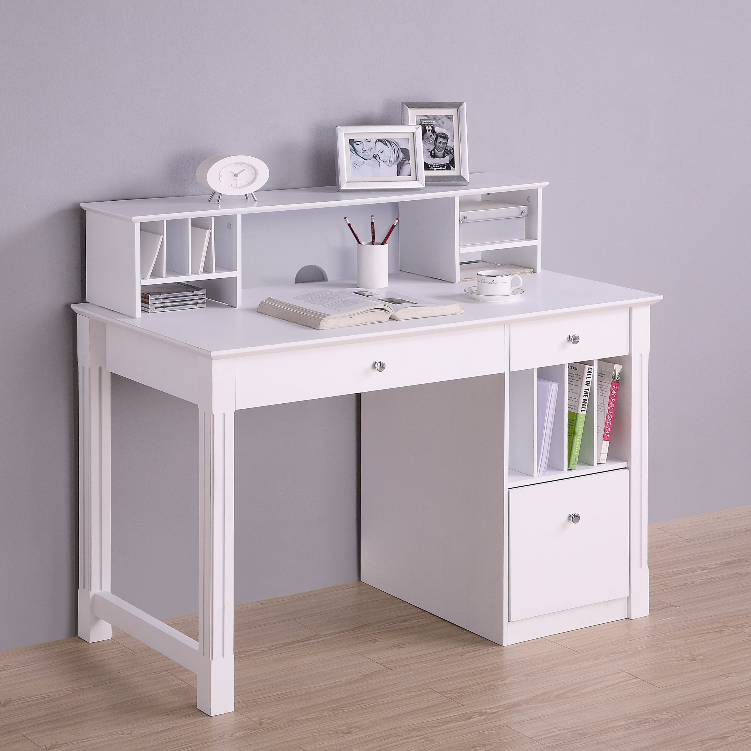 Incroyable Kids White Desk With Hutch   Ideas On Foter