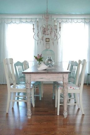 White Distressed Dining Table Ideas