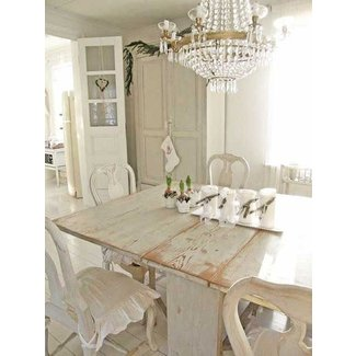 Distressed White Dining Table