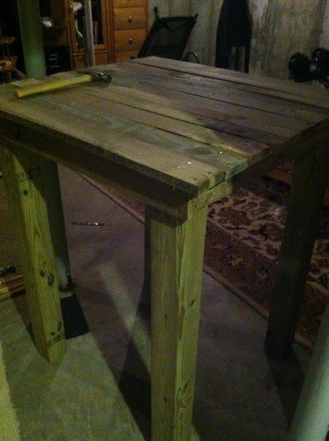 Diy Bar Height Table