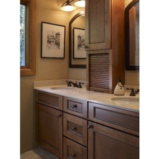 Double sink vanity bathroom