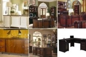 Executive desk and credenza