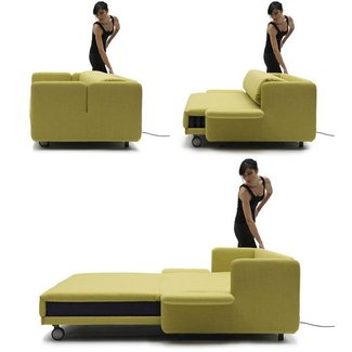 Fold down sofa bed
