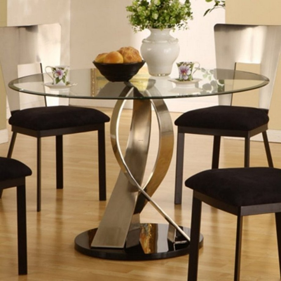 Superbe Glass Top Round Kitchen Table Sets   Ideas On Foter