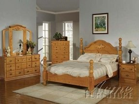 Honey Oak Bedroom Set