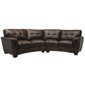 Curved Leather Sectional Sofa - Ideas on Foter