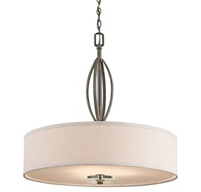 Leighton olde bronze three light pendant kichler drum pendant lighting