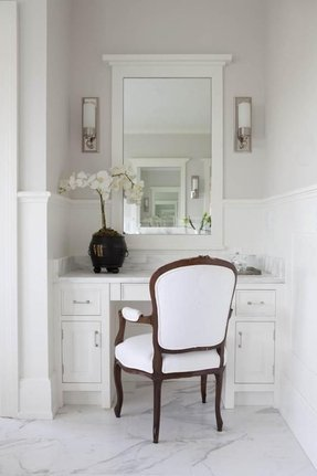 Makeup Table With Mirror And Chair Foter