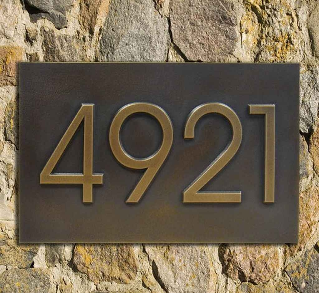 Modern home address advantage numbers 4