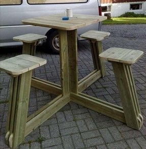 Outdoor tall table