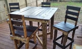 Pallet high top bar table pub table 1