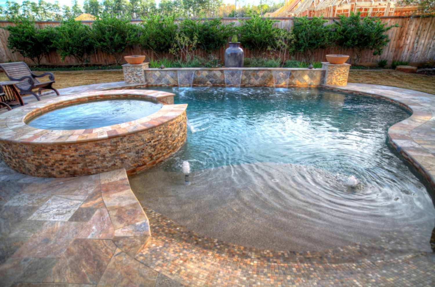 Small Pool With Spa Ideas