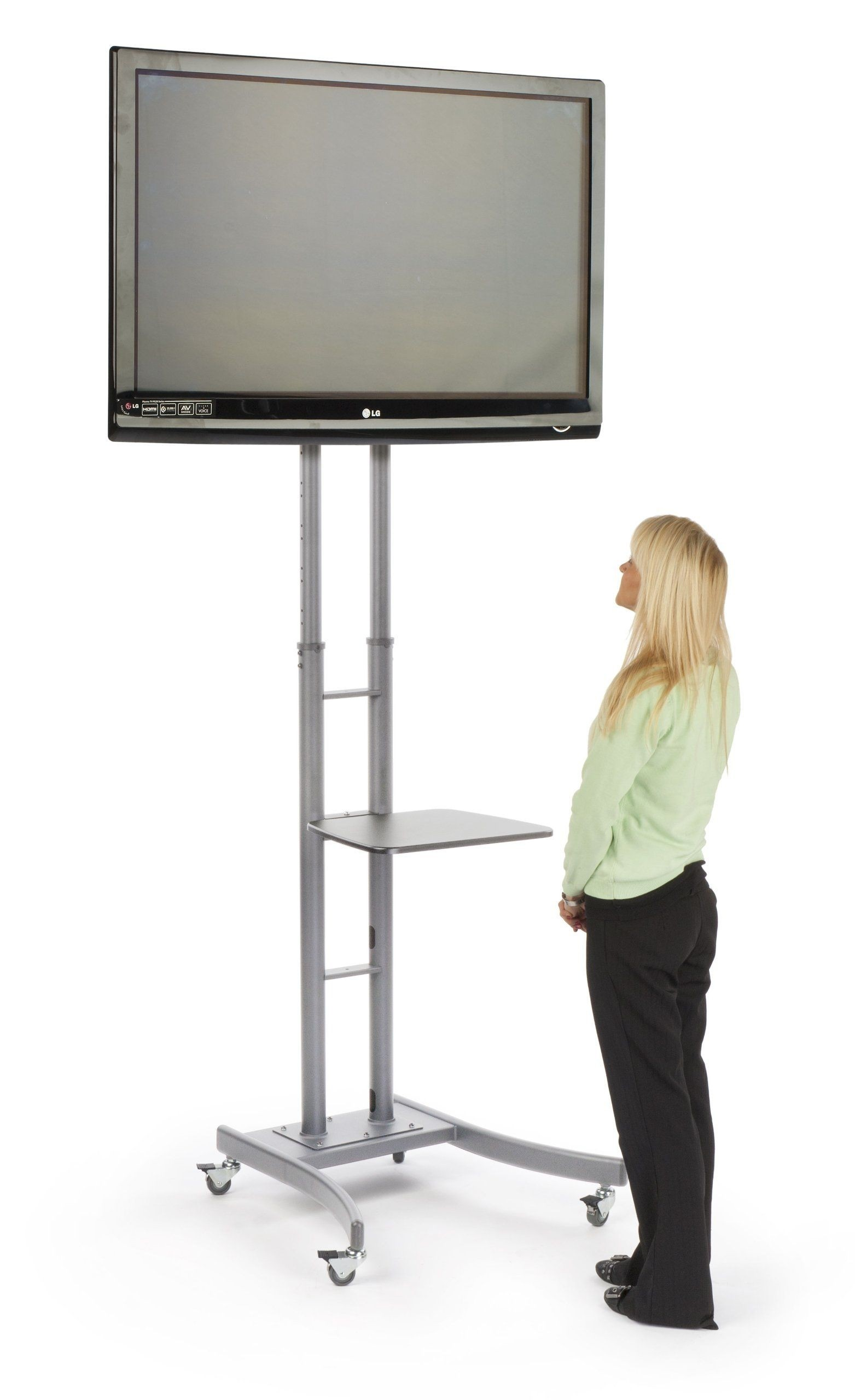 Portable TV Stand With Wheels For LCD, Plasma Or LED TVs Between 32 And 84