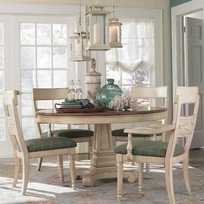 Round dining table leaf foter for Round wood dining table with leaf