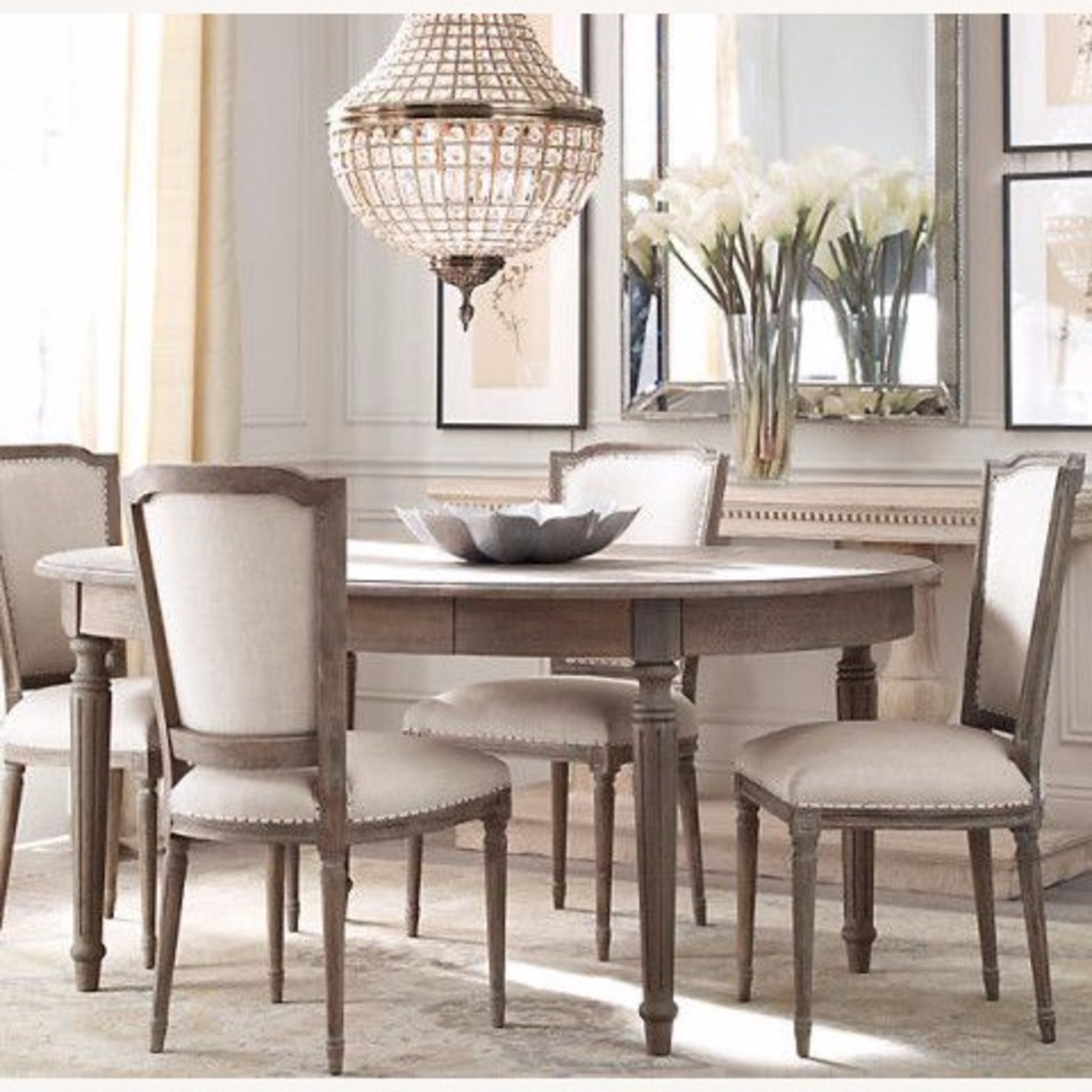 Superb Round Dining Table Set With Leaf