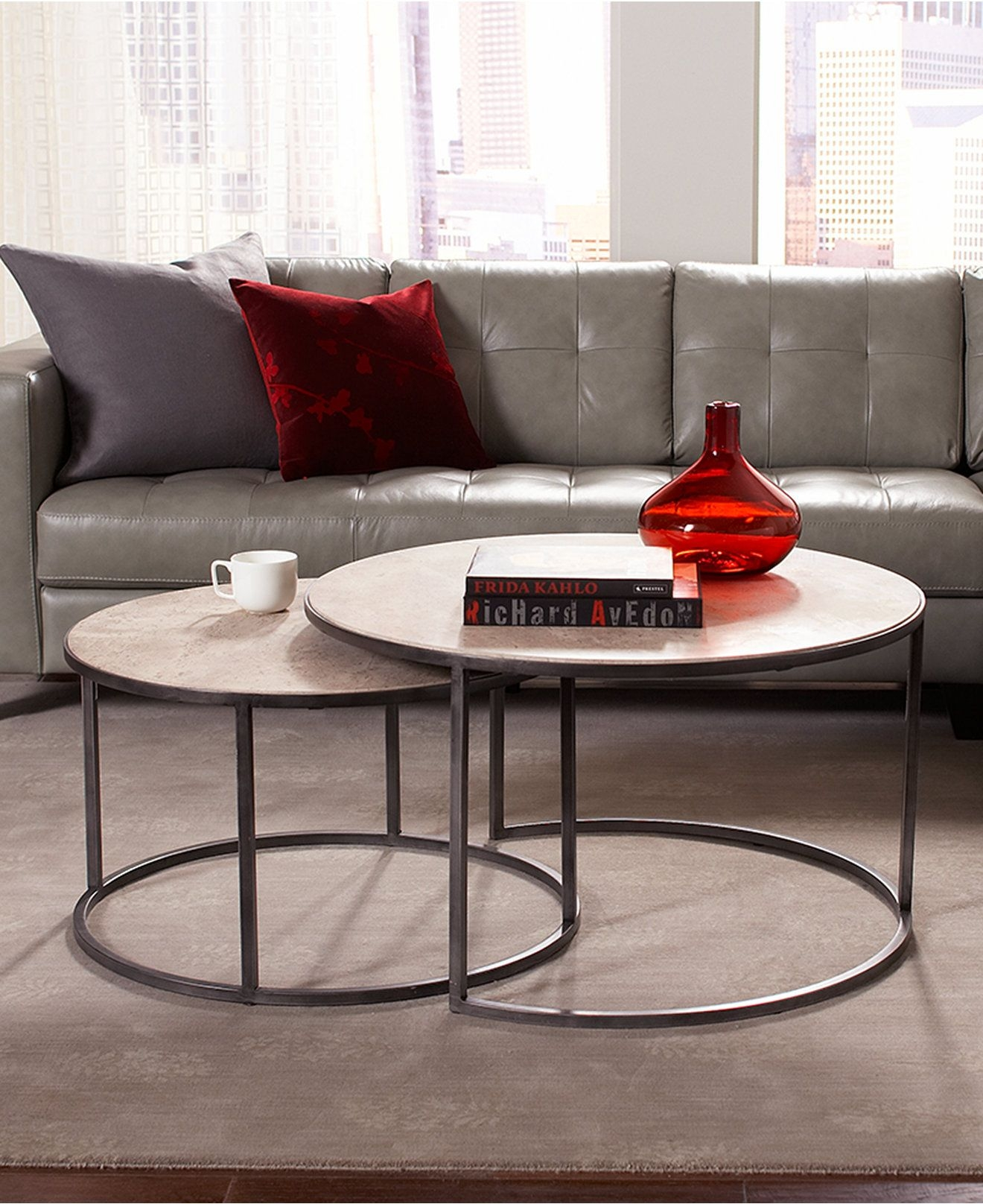 Round Nesting Coffee Table 1