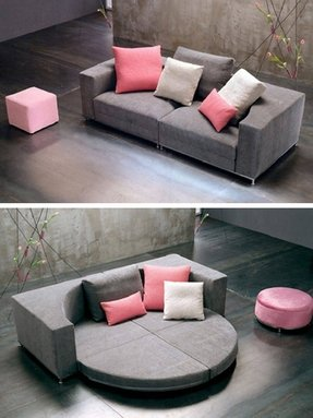 Rounded sectional sofa 4