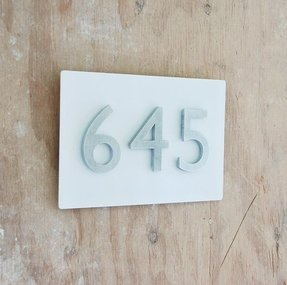 Rustic address signs