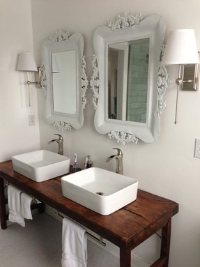 Rustic vessel sinks
