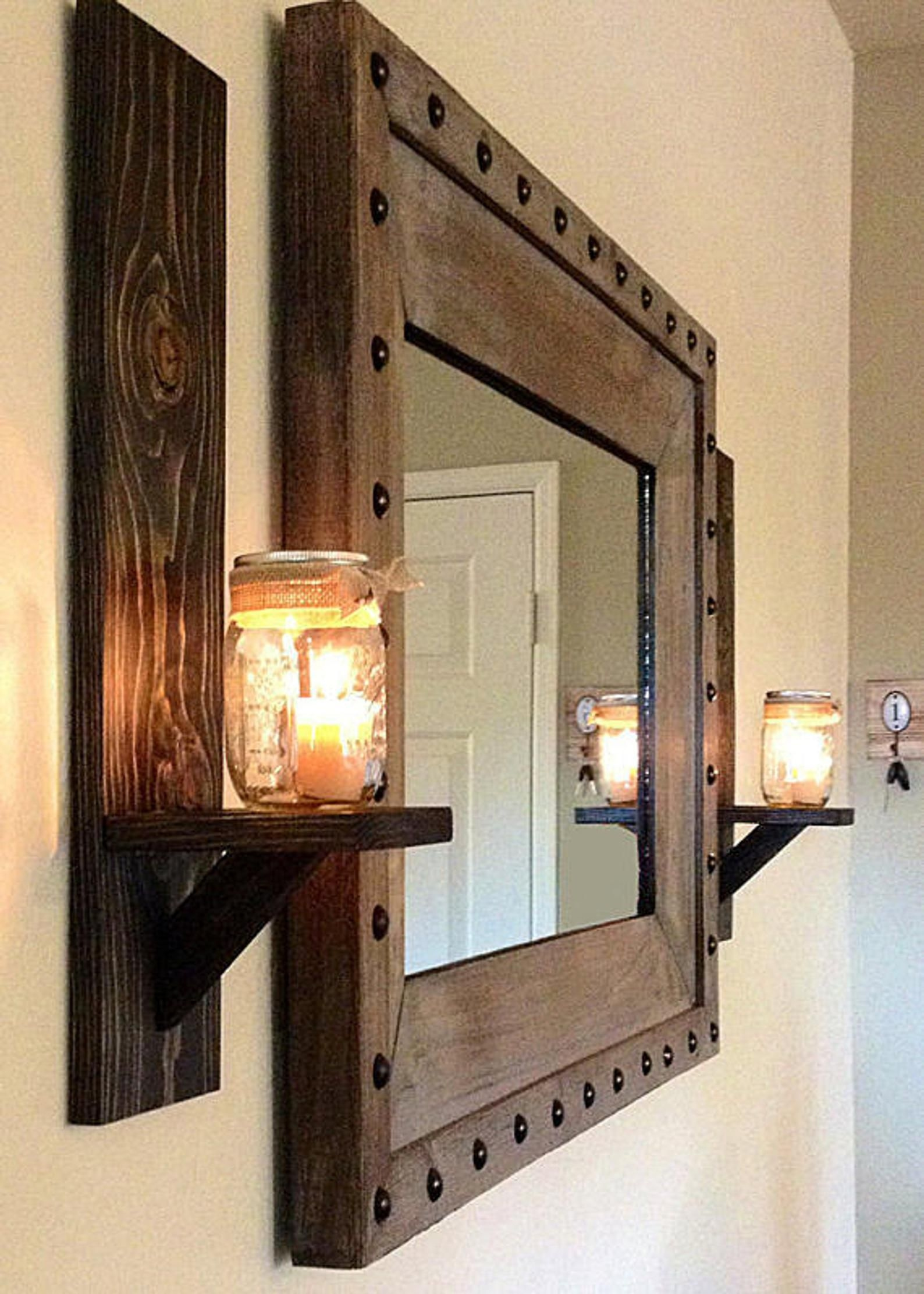 Decorative Metal Wall Sconce Pillar Candle Holders Elegant and Modern