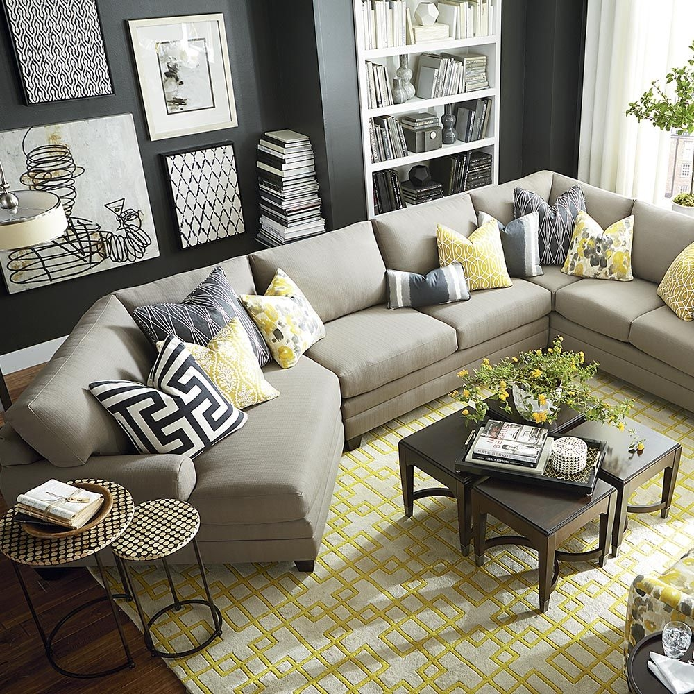 roller sectional espresso leather sofa round sectionals hen