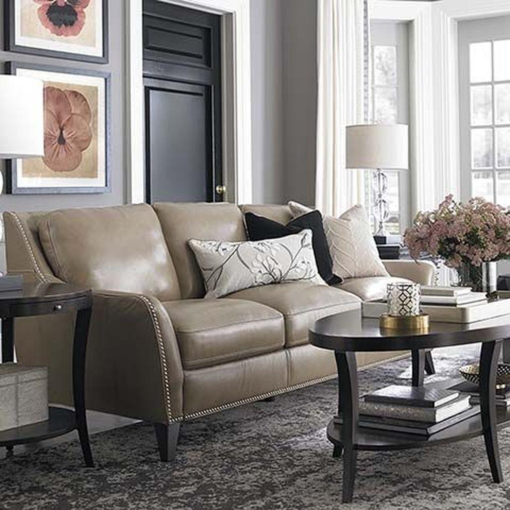Superieur Taupe Leather Sofa 1