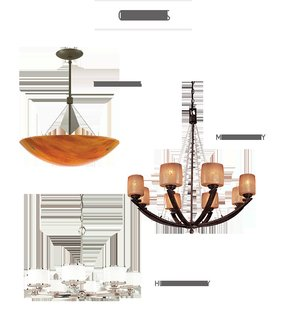 Types of chandeliers 25