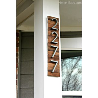 Vertical address plaques for house 1