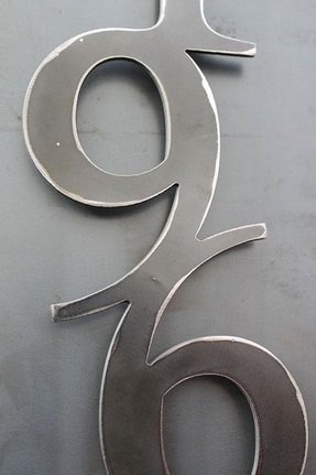 Vertical metal house address numbers 4 number by toughandtwisted 47