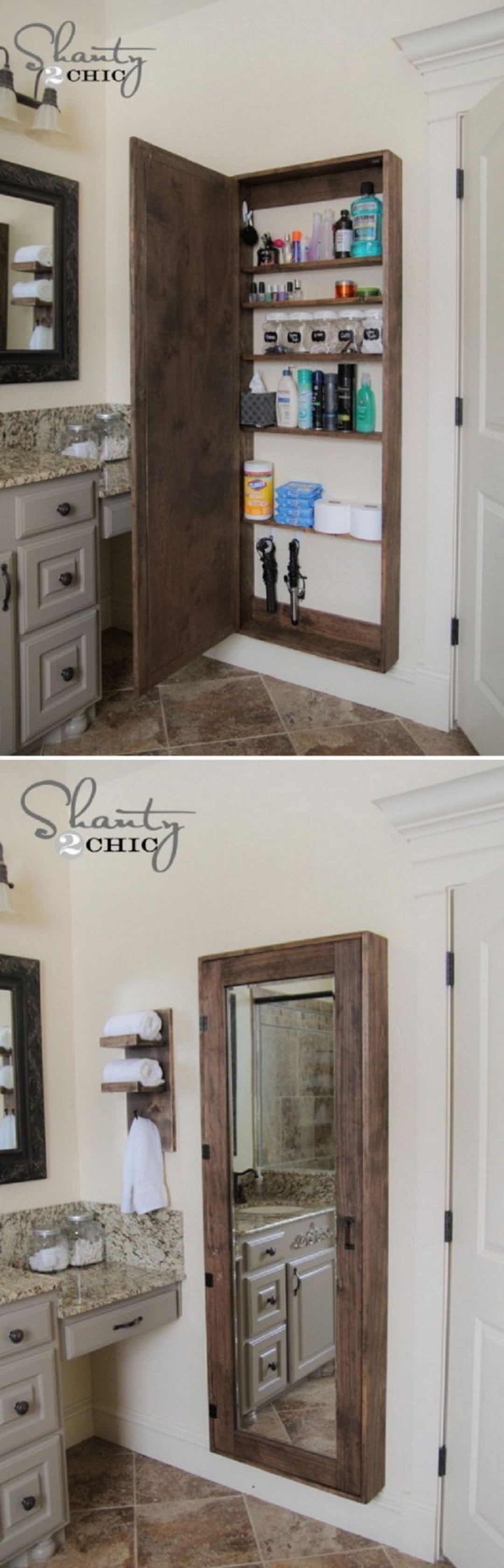 Attirant Wall Mirror With Jewelry Storage