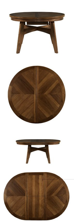 Walnut round dining table 2
