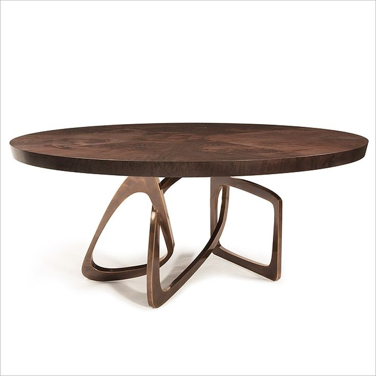 Superb Walnut Round Dining Table