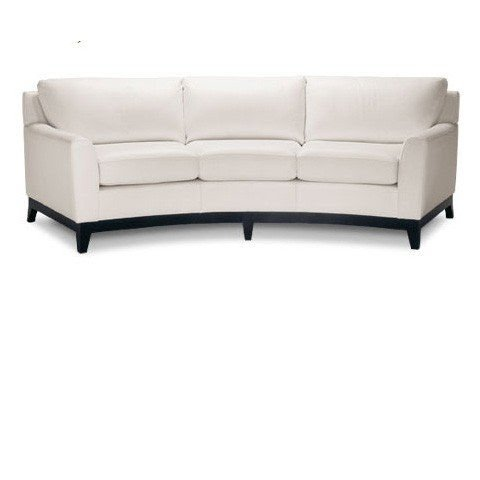 Perfect White Curved Sofa