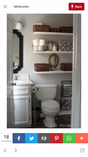 White Over The Toilet Storage - Foter