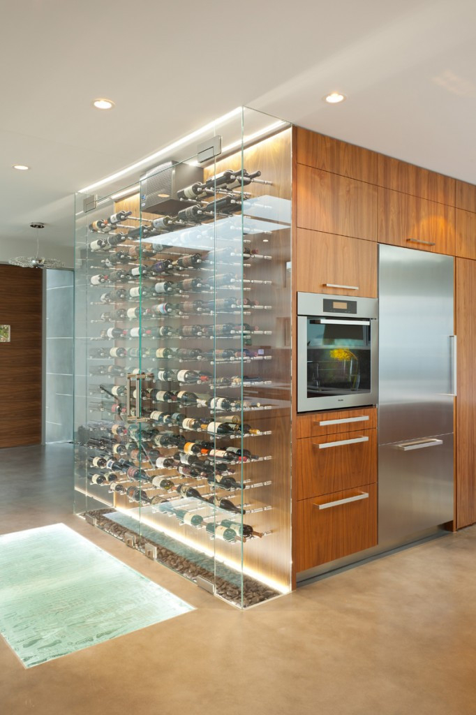 Wine glass display case
