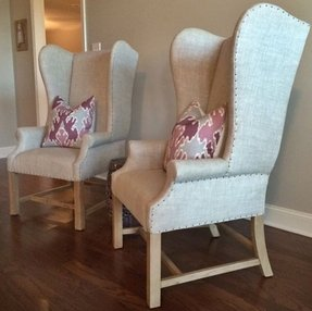 Wingback dining chairs 1