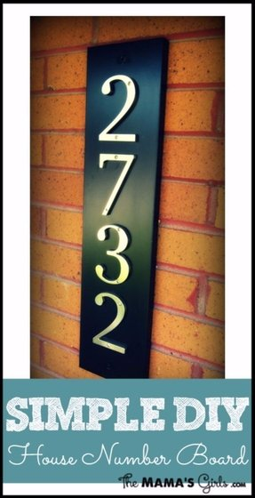 Wood address signs