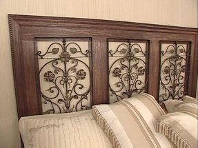 Wood and metal headboard