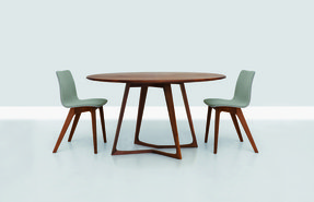 Wood oval dining table 20