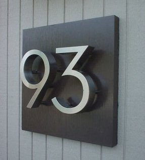 Wooden address signs