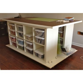 Work tables with storage 1