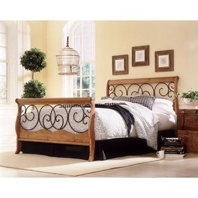 Wrought Iron And Wood Headboard