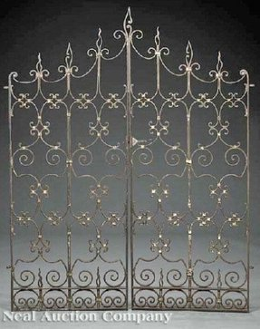 Wrought iron headboard full 2